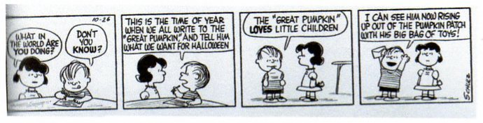 The Great Pumpkin's First Mention