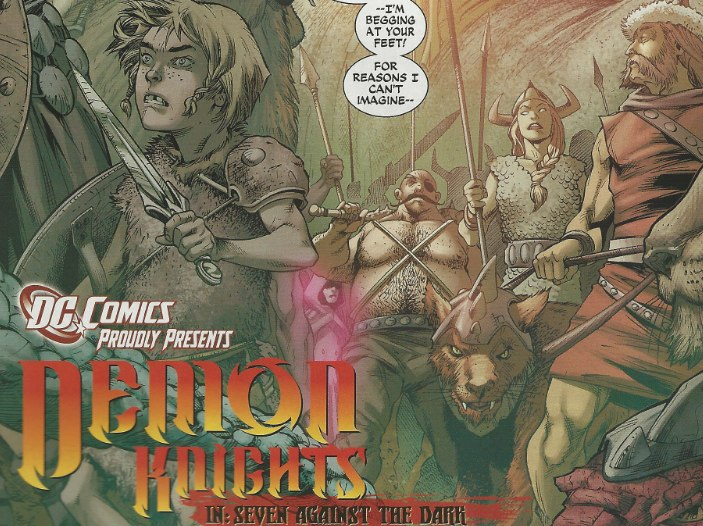 Mystery Woman appears in Demon Knights #1 from DC Comics