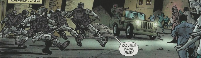 Mystery Woman appears in Men of War #1 from DC Comics
