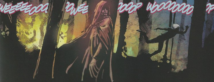 Mystery Woman appears in Resurrection Man #1 from DC Comics