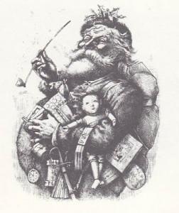 Santa Claus circa 1881 - illustration by Thomas Nast