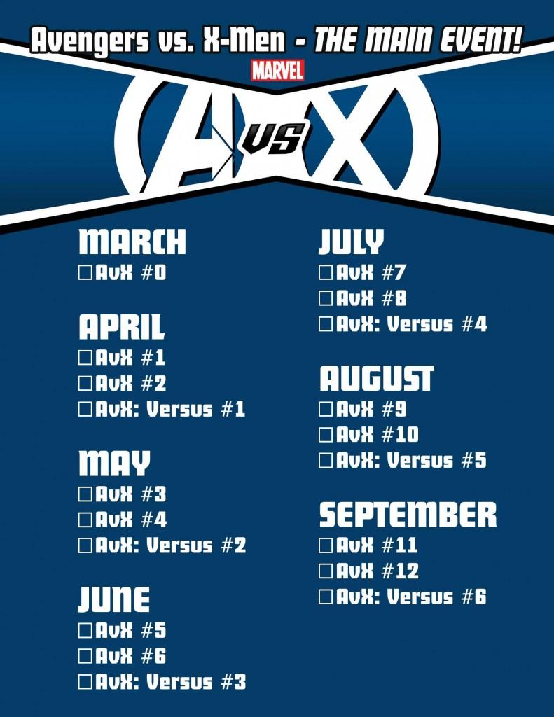 Avengers vs. X-Men Checklist Page 2