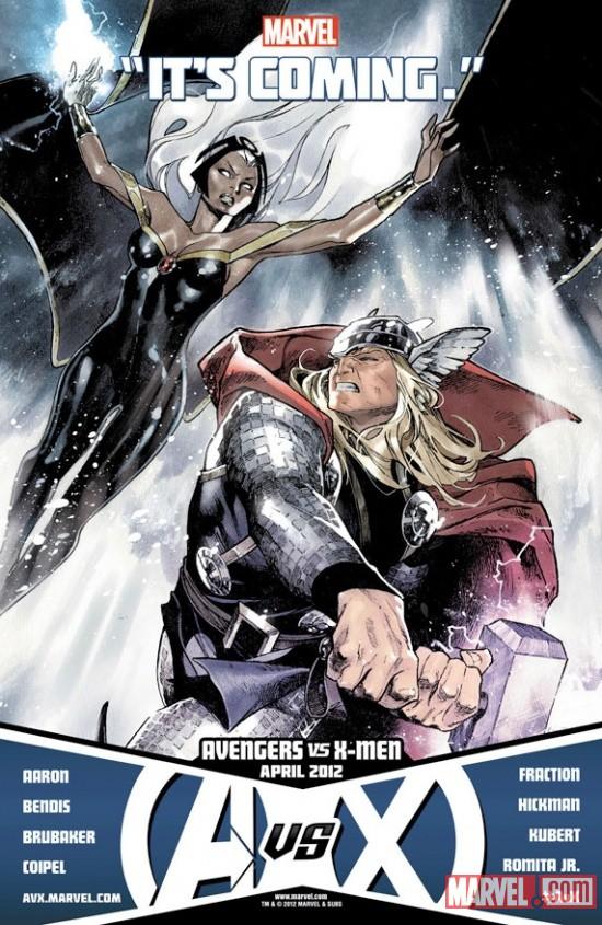 Avengers vs X-Men: Thor vs Storm