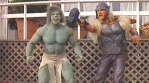 The Incredible (?) Hulk and the Mighty (??) Thor.