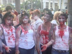 Participants in San Diego Zombie Walk 2010