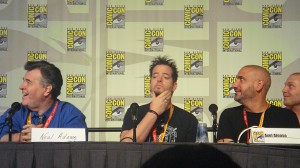 Daniel Way ponders a Deadpool-less future, while Neal Adams and Axel Alonso enjoy the panel.