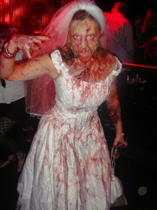 A Bridezombie from Zombie Walk: San Diego.