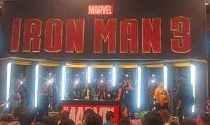 Marvel's display promoted next year's Iron Man 3.