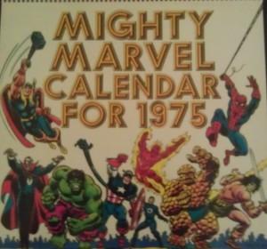 Marvel 1975 Calendar