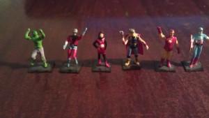 Avengers statues