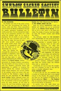 Shadow Secret Society bulletin 01