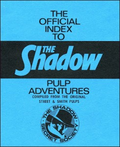 Shadow Secret Society pulp index