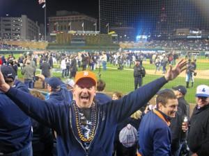 JJ Celebrates the Detroit Tigers ALCS Win