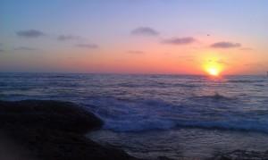 Sunset in Ocean Beach, CA