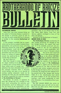 Brotherhood of Bronze bulletin 01