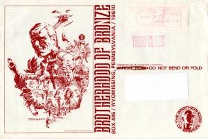 Brotherhood of Bronze mailing envelope