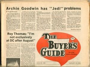Comics Buyer's Guide #483, 1983