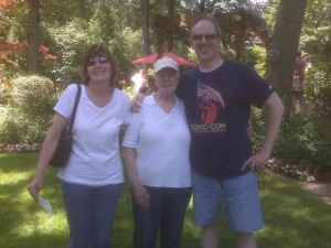 My sister Jan, Mom, and JJ in 2010