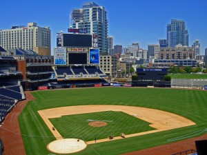 Downtown San Diego as seen from the PetCo Park press box.