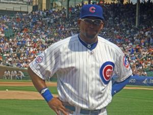Cubs outfielder Marlon Byrd says hey.