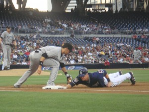 The San Diego Padres played the Florida Marlins, a few days before Comic-Con in 2009.