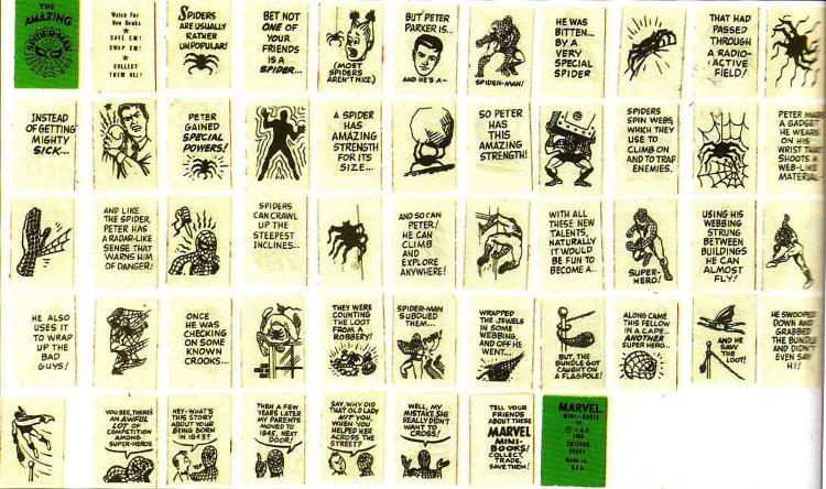 Spider-Man mini book contents