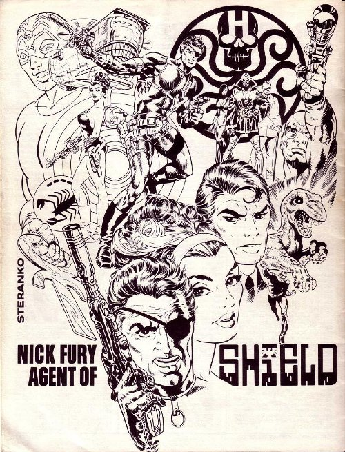 Jim Steranko's second # 1 Issue Back Cover