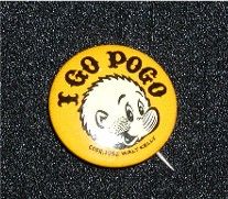 I Go Pogo pinback