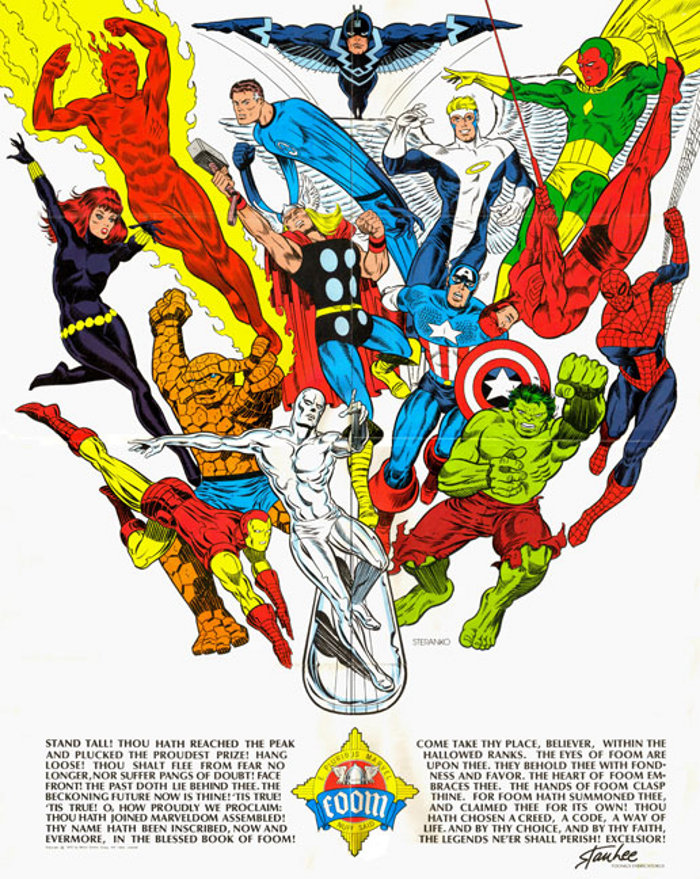 FOOM pinup by Steranko