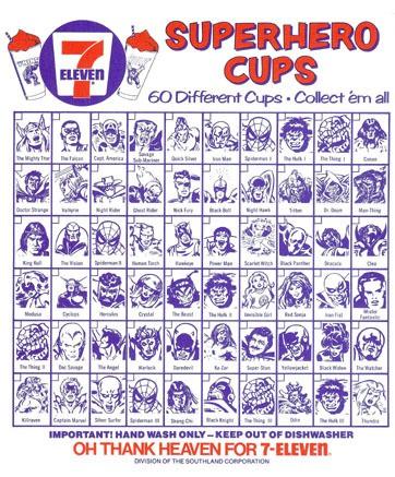 1975 Marvel Slurpee Check List