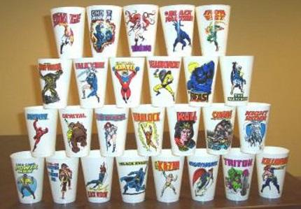 1975 Marvel Slurpee cups