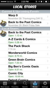 Fresh Comics Local Comic Shops List