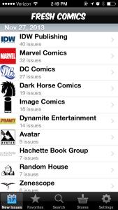 Fresh Comics Publishers List