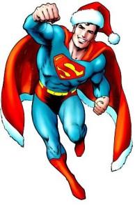 Superman as Santa