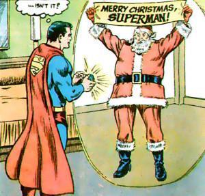 Superman gets a present.