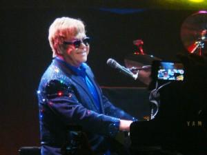 Elton John performs at Joe Louis Arena