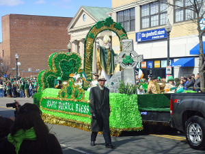 The annual St Patrick's Day Parade in south Boston.