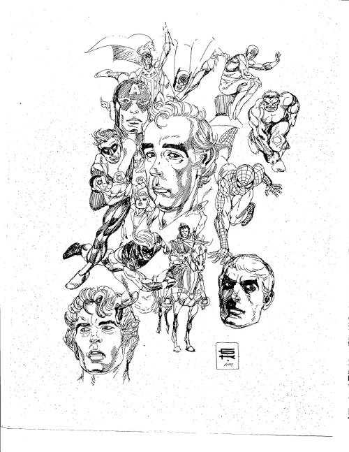 Gil Kane Self-Portrait from 1970