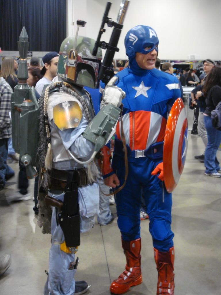 Boba Fett and Captain America