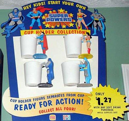 DC - Burger King superhero cup display