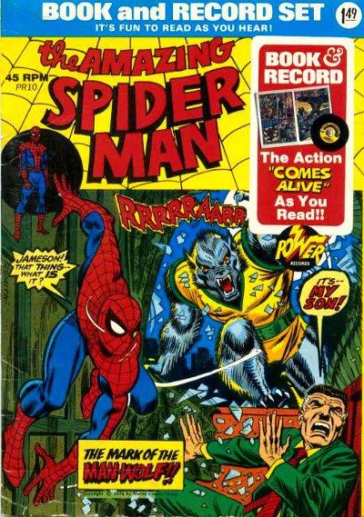 Spider-Man Power Record & Book Set 1974
