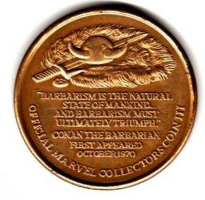 Conan medallion rear