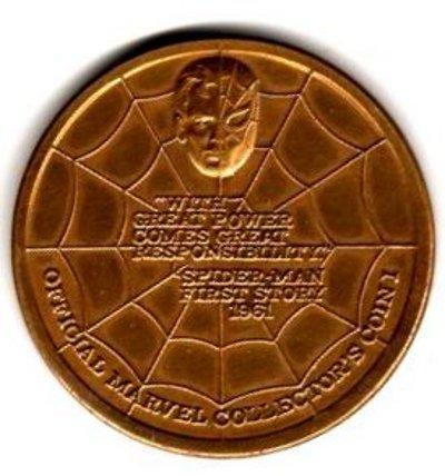 Spider-Man medallion rear