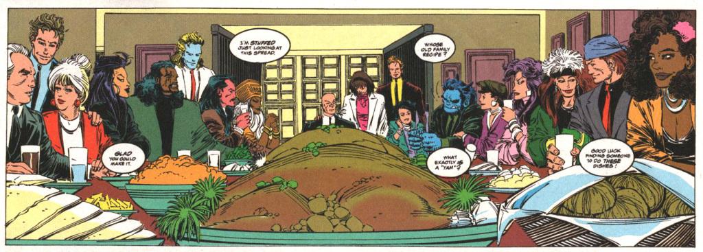 Even the X-Men celebrate Thanksgiving. Sometimes.