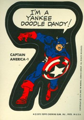 1975 Topps Marvel Captain-America 2 sticker