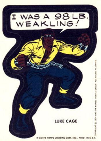 1975 Topps Marvel Luke Cage sticker