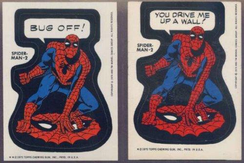 1975 Topps Marvel Spider-Man Sticker variant