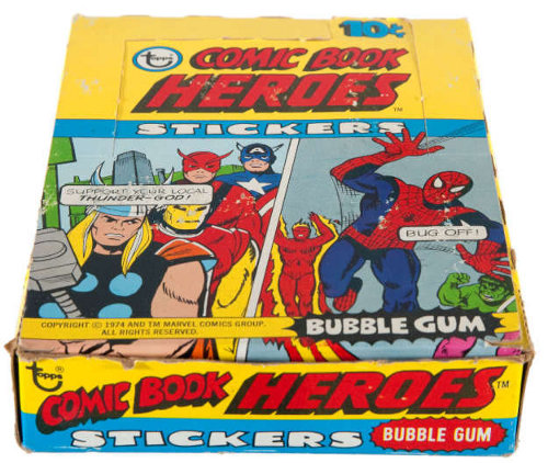 1975 Topps Marvel Stickers Box