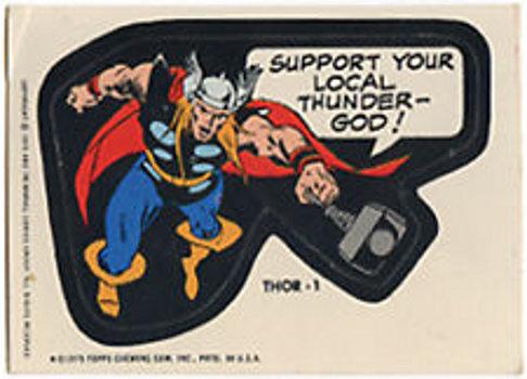 1975 Topps Marvel Thor 1 sticker
