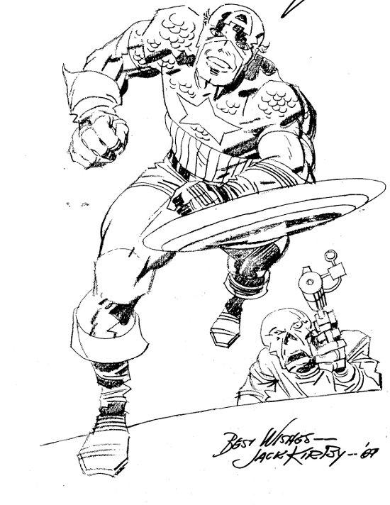 Captain America Centerpiece by Jack Kirby